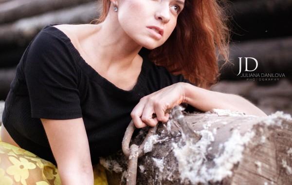 Фотосессия модели красивой девушки