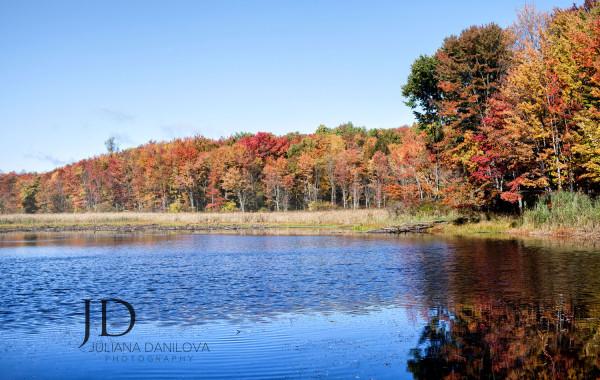 Осенние озера штата Пенсильвания