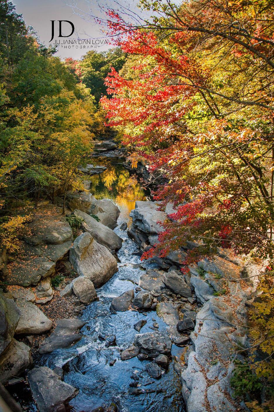 Фото горного ущелья водопада в США