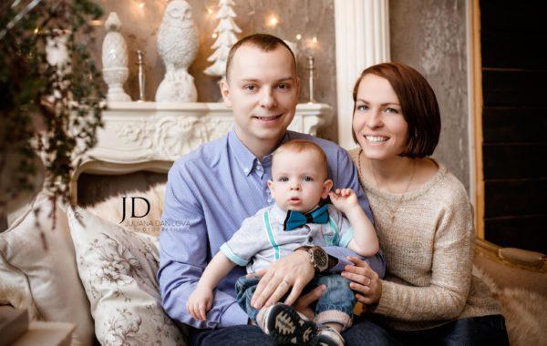 Волшебная семья в волшебный Новый год